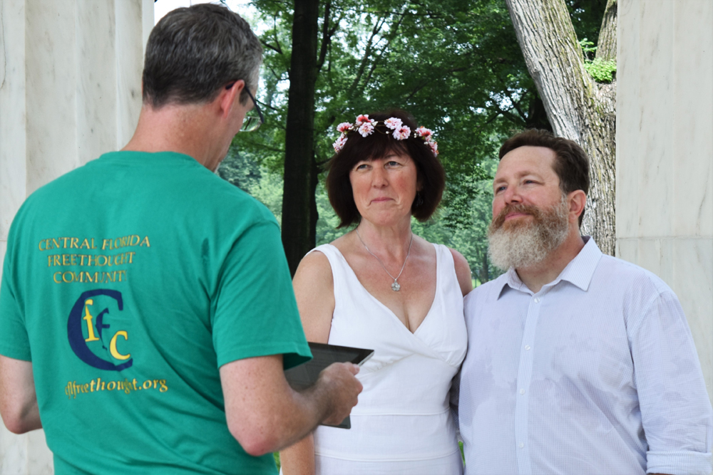 A Reason Rally Wedding: Our Humanist Love Story