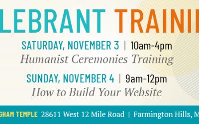 Celebrant On-Site Training | Michigan, Nov. 3-4