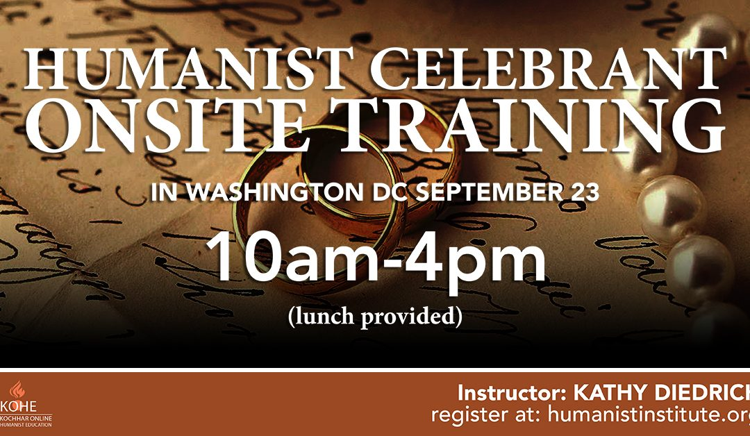 On-Site Training for Celebrants: September 23, 2017