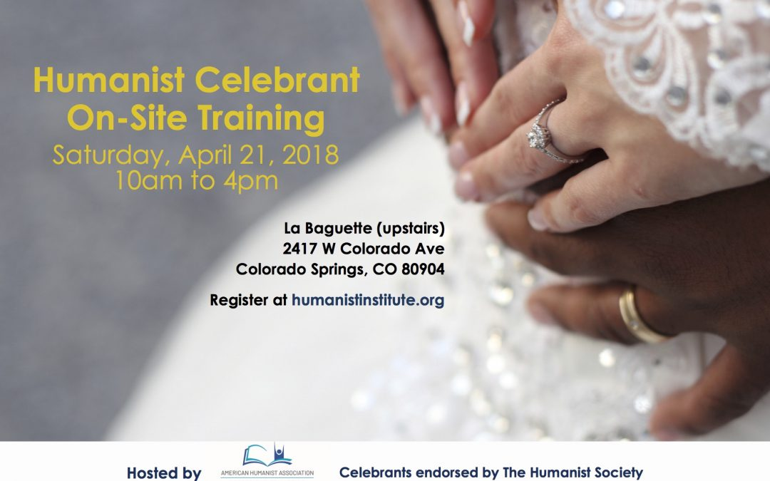 ON-SITE TRAINING FOR CELEBRANTS, APRIL 21, 2018