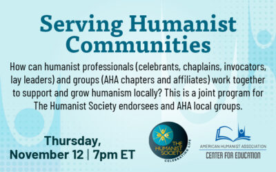 Teleconference: Serving Humanist Communities